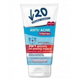 ERIS UNDER 20 ANTI ACNE INTENSE Aktywny Żel-peeling myjący 150ml.