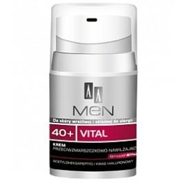 AA MEN 40+ Krem nawilżająco-przeciwzmarszczkowy dla mężczyzn 50ml