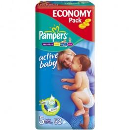 Pampers ACTIVE BABY JUNIOR (5) (11-25) x 52szt.