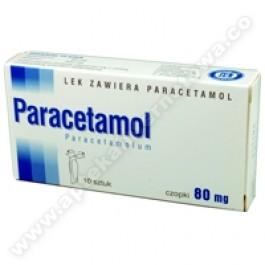 Paracetamol czopki 80mg x 10czop.
