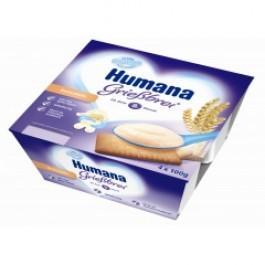 Humana Deserek mleczny kaszka z herbatnikiem 4x100g.
