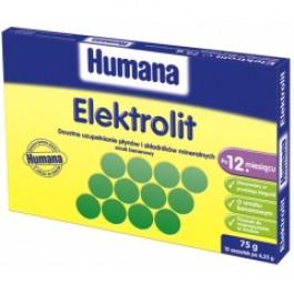 HUMANA Elektrolit o smaku bananowymx 12 sasz.