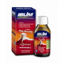 Ibum zawiesina smak malinowy 100mg/5ml  130g.