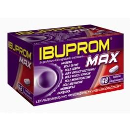 IBUPROM MAX 400 mg x 48 tabl drażowanych